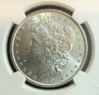 1888P MORGAN SILVER DOLLAR NGC GRADED MINT STATE 61 BRILLIANT, CLEAN FIELDS 011