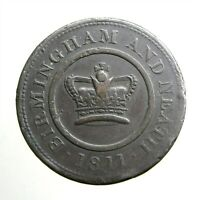 1811 LARGE COPPER PENNY ____TRADE TOKEN____CROWN COPPER COMP