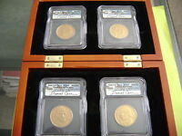 2007-D PRESIDENTIAL ICG MINT STATE 65 SIGNED DANIEL CARR 4-COIN CONCEPT DOLLAR MEDAL SET