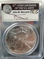 2011-S AMERICAN SILVER EAGLE 1 OZ. JOHN MERCANTI SIGNED COIN PCGS MINT STATE 69