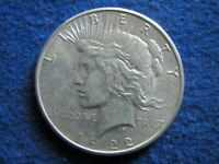 1922 S  PEACE SILVER DOLLAR - LUSTROUS EXTRA FINE - FREE U S SHIPPING