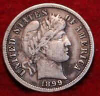 1899 S SAN FRANCISCO MINT SILVER BARBER DIME