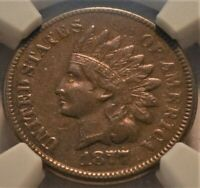 1877 1C NGC VF DETAILS INDIAN HEAD CENT LOOKS XF BOLD LIBERT