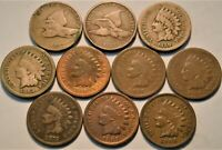 LOT  10  FLYING EAGLE INDIAN HEAD CENTS 1857 1858 1908 S 186