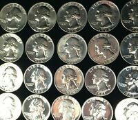 1960 1964 $10 FACE VALUE SILVER PROOF QUARTERS INCLUDING 1 1