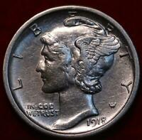 UNCIRCULATED 1918 S SAN FRANCISCO MINT SILVER  MERCURY DIME