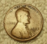 1922 D - LINCOLN WHEAT BACK PENNY CENT - KEY