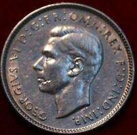 UNCIRCULATED 1943 AUSTRALIA 6 PENCE SILVER FOREIGN COIN