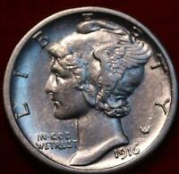 1916 S SAN FRANCISCO MINT SILVER MERCURY DIME