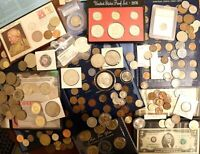 WOW   200  COIN COLLECTION  MISC  SILVER ETC  MUST SEE. AWES