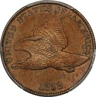 1858 LARGE LETTERS FLYING EAGLE CENT PCGS CHOICE AU DETAILS