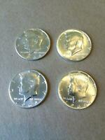 FOUR  4  90  SILVER 1964 KENNEDY HALVES    ALL FROM CHASE BA