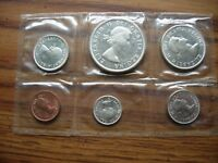 CANADIAN MINT SET FROM 1963 90  SILVER DIME QUARTER & DOLLAR