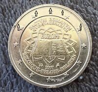 VARIETY  2 EURO 2007 COMMEMORATIVE BELGIUM  DOUBLE RING OBVE