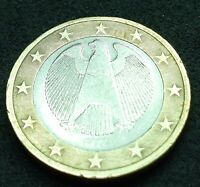 VARIETY  1 EURO 2002 A GERMANY  DOUBLED DIE OBVERSE UP  RRRA