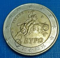 VARIETY  FAMOUS 2 EURO 2002 WITH  S GREECE  DIE CRACK ON BUL