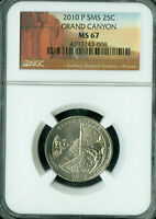 2010 P GRAND CANYON PARK LOGO QUARTER NGC MS67 SMS