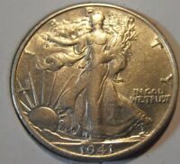 1941 S WALKING LIBERTY SILVER HALF DOLLAR 41SEW1
