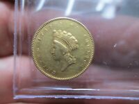 1855 TYPE 2 1 DOLLAR LIBERTY GOLD COIN IN ABOUT UNCIRCULATED