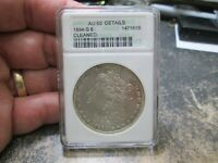 US ANACS AU 50 ABOUT UNCIRCULATED 1894 S MORGAN SILVER DOLLAR CLEANED