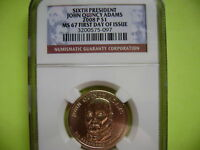 2008-P JOHN QUINCY ADAMS NGC MINT STATE 67 FIRST DAY ISSUE CIRCULATION STRIKE DOLLAR COIN