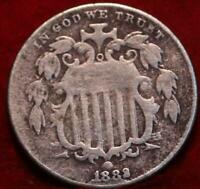 1882 PHILADELPHIA MINT SHIELD NICKEL