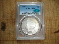 1884-CC MORGAN DOLLAR PCGS MINT STATE 65 PLUS AND CAC