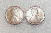 1934 D TWO DOUBLE DIE REVERSES DDR-001/ DDR-002 CIRCULATED LINCOLN WHEAT CENTS