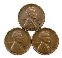 1931 D, 1932 D, 1933 D LINCOLN WHEAT CENT PENNIES VF/VF 155318