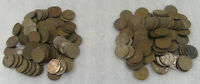 1920'S & 1930'S WHEAT CENT CIRCULATED LOT OF 2 - 100 COIN BAGS FROM HUGE HOARD