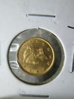 1852 1 DOLLAR LIBERTY GOLD COIN IN ABOUT UNCIRCULATED CONDIT