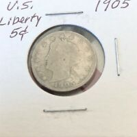 1905 LIBERTY NICKEL VINTAGE AMERICAN COIN
