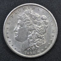 1890-S MORGAN SILVER DOLLAR A BRILLIANT UNGRADED COIN WITH FAST U.S SHIPPING