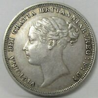 1887 GREAT BRITAIN SILVER 6 PENCE  KM 757
