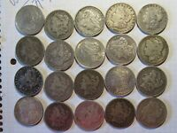 90  MORGAN SILVER DOLLARS ROLL OF 20 COINS IN TUBE