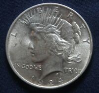 1924-P PEACE SILVER DOLLAR 90 SILVER  LOT 031048