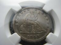 1843 SEATED QUARTER NGC EXTRA FINE  40 WITH CRACKED REVERSE