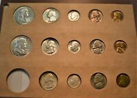 1956 P D 14 COIN UNCIRCULATED MINT SET SILVER FRANKLIN HALF
