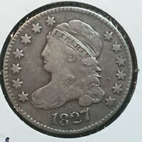 1827   FINE-VF  CAPPED BUST DIME   COIN