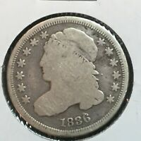 1836  VG  CAPPED BUST DIME   COIN