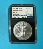 2017 AMERICAN SILVER EAGLE ASE NGS MS70 EARLY RELEASE