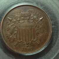 1869   PCGS PR64  BN    2 TWO CENT PIECE     COIN