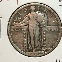 1920-P  VF-EXTRA FINE   STANDING LIBERTY QUARTER   COIN
