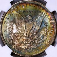 1885-O MORGAN SILVER DOLLAR - NGC MINT STATE 65 - OBVERSE & REVERSE TONED SURFACES
