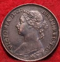 1886 GREAT BRITAIN FARTHING FOREIGN COIN