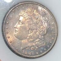 1887-S MORGAN SILVER DOLLAR, UNCIRCULATED COIN