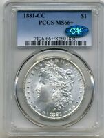 1881-CC MORGAN DOLLAR PCGS MINT STATE 66   PLUS CAC