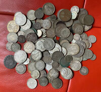 WORLD LOTS OF SILVER COINS NOT SCRAP MANY HIGH GRADE  1100