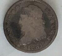 1831 U.S. CAPPED BUST 5 CENT SILVER HALF DIME