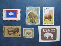 AMERICAN BUFFALO/BISON STAMPS